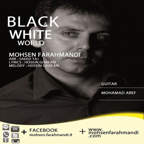 آهنگ جدید محسن فرهمندی به نام دنیای سیاه و سفید