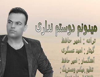 دانلود آهنگ جدید امیر حافظ به نام میدونم دستم نداری
