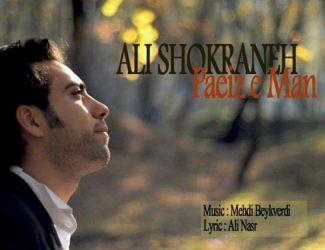دانلود آهنگ جدید علی شکرانه بنام پائیز من